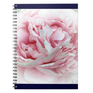 Flor en colores pastel libreta espiral