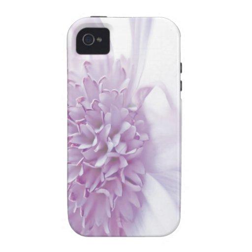 Flor en colores pastel de la lavanda Case-Mate iPhone 4 carcasa