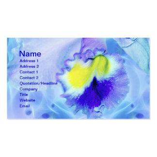 Flor en colores pastel de la orquídea azul plantillas de tarjetas de visita