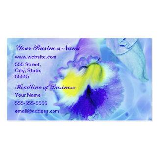 Flor en colores pastel de la orquídea azul tarjeta de visita
