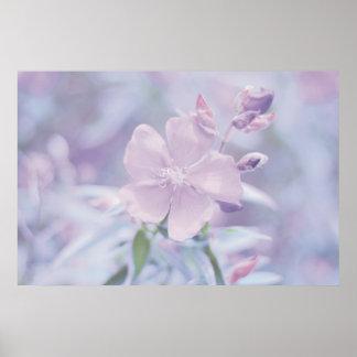 Flor en colores pastel impresiones