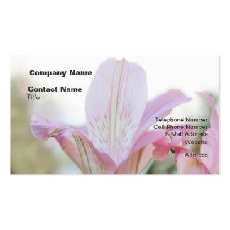 Flor en colores pastel rosada bonita tarjetas de visita