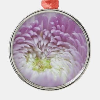 Flor en colores pastel suave de la lavanda ornamento de navidad