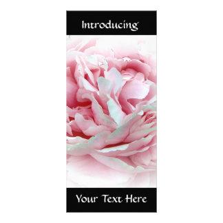 Flor en colores pastel tarjetas publicitarias a todo color