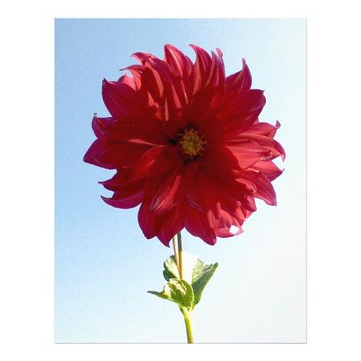 Flor en el cielo membretes personalizados