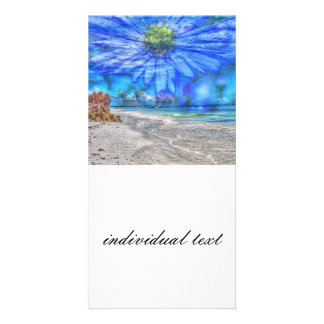 flor en el cielo (u) tarjeta fotografica