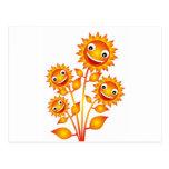flor en el ejemplo postales
