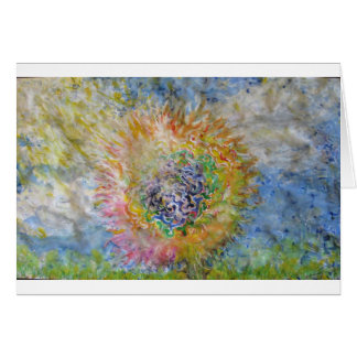 Flor en el Sun Felicitación