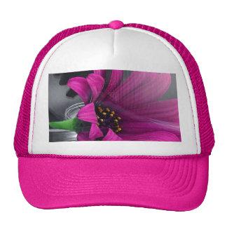 Flor en florero gorra
