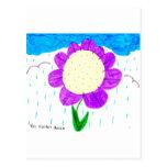 Flor en la lluvia tarjetas postales