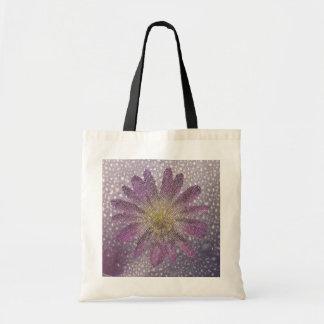 flor en lila bolsa tela barata