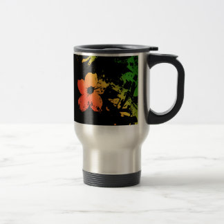 Flor en negro taza de café