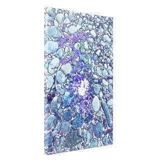 Flor en piedras impresión en lienzo estirada