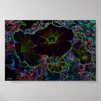 flor encendida póster