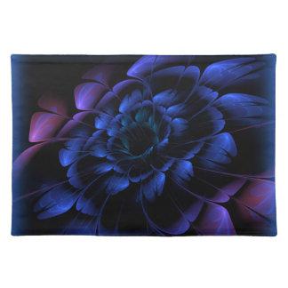 "Flor escarchada Placemat 20"" del fractal de la Manteles Individuales"