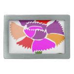 FLOR: Esquema de color inusual Hebillas Cinturón Rectangulares