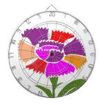 FLOR: Esquema de color inusual Tablero De Dardos