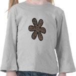Flor, estampado de animales, leopardo manchado - camisetas