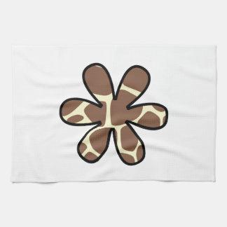 Flor, estampado de animales (modelo) de la jirafa toalla