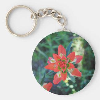 Flor exótica llavero personalizado
