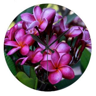 Flor exótica, reloj de pared