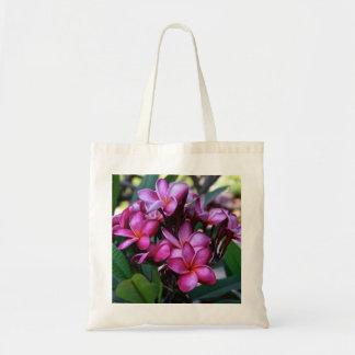 Flor exótica, tote del presupuesto bolsa tela barata