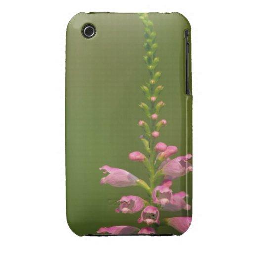 Flor falsa rosada de Dragonhead Case-Mate iPhone 3 Fundas