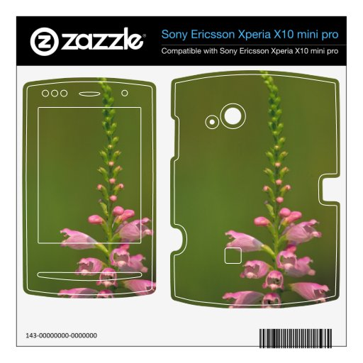 Flor falsa rosada de Dragonhead Xperia X10 Skin