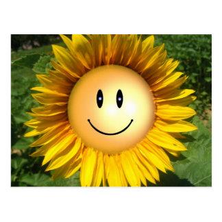Flor feliz de la sol tarjetas postales