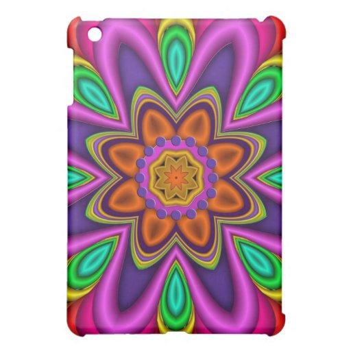 Flor feliz, diseño colorido del caleidoscopio
