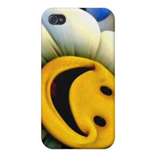 Flor feliz iPhone 4 funda