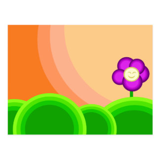 Flor feliz postales