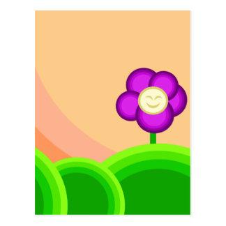 Flor feliz tarjeta postal