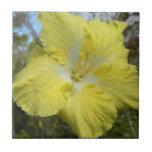 Flor floral de Hawaii de la teja amarilla tropical