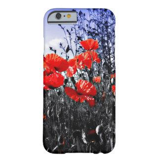 Flor floral de la amapola de las amapolas funda de iPhone 6 slim