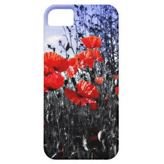 Flor floral de la amapola de las amapolas iPhone 5 Case-Mate carcasa