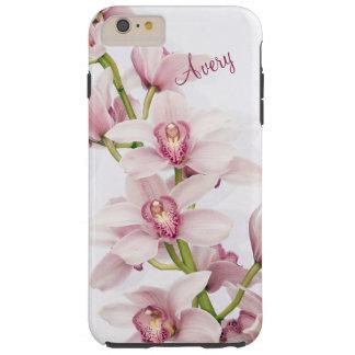 Flor floral de la orquídea rosada del Cymbidium Funda De iPhone 6 Plus Tough