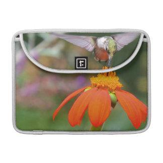 Flor floral del animal de la fauna del pájaro del fundas macbook pro