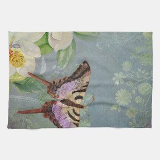 Flor floral moderno de la flor de la magnolia de l toallas de cocina