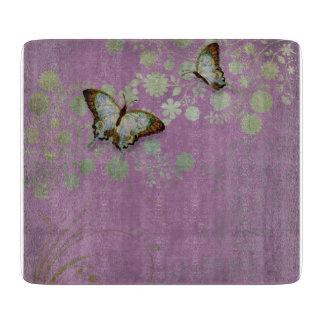 Flor floral moderno de la flor de la mariposa w tablas de cortar