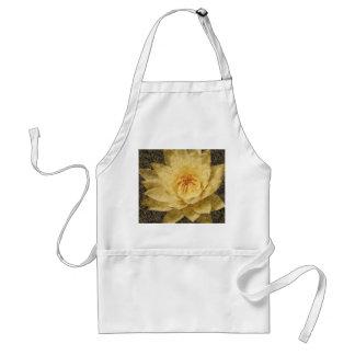 Flor floral pintada arte alterada del lirio de agu delantal