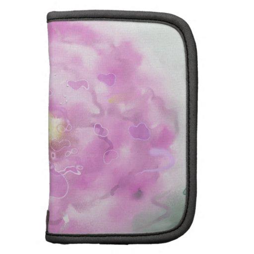 Flor floreciente del peony rosado planificadores