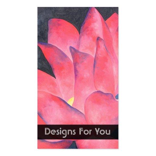 Flor floreciente dos que pinta plantilla de tarjeta de visita