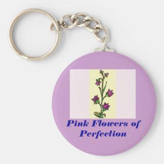 flor, flores rosadas de la perfección llavero redondo tipo pin