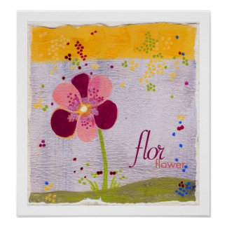 flor : flower Bilingual Print