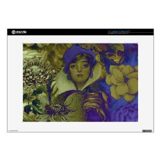 Flor fluorescente Trippy de la mujer del vintage Calcomanía Para 38,1cm Portátil