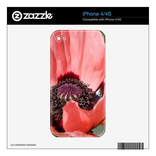 Flor frecuencia intermedia 166 iPhone 4 calcomanía