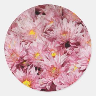 Flor frecuencia intermedia 305 pegatina redonda
