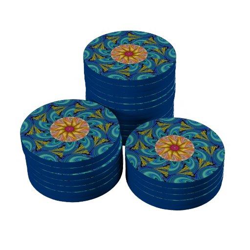 flor frecuencia intermedia abstracta juego de fichas de póquer