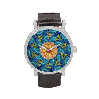 flor frecuencia intermedia abstracta relojes de mano